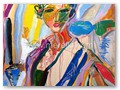 contemporary-art-artists-painters-.merello.-spanish-woman-with-flower(92x73-cm)